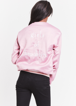 Girls of Brooklyn Bomber Jacket in Pink