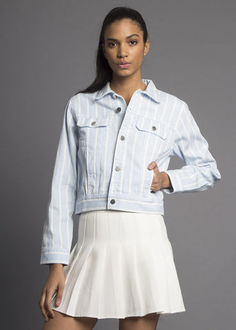 Venice Striped Denim Jacket