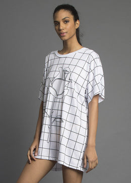 Grid Oversize Shirt View 2
