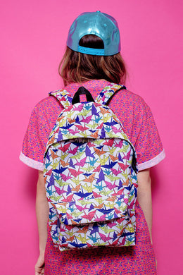 Paper Crane Canvas Bookbag