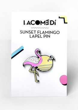 Sunset Flamingo Enamel Pin