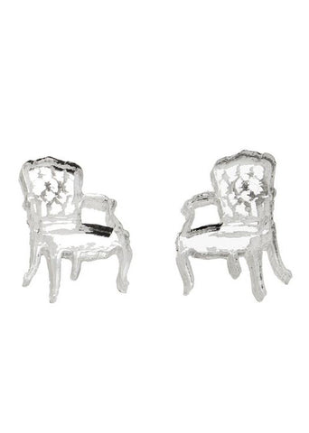 Mirror Silver Chair Studs