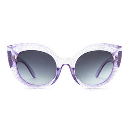 The Diamond Brunch Sunglasses in Gloss Purple Glitter