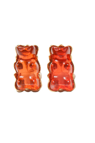 Red Gummy Bear Studs Earrings
