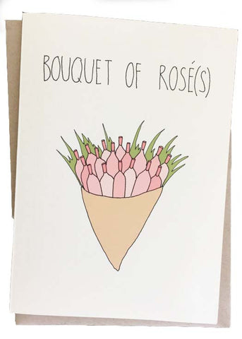 Bouquet of Rosé(s) Card