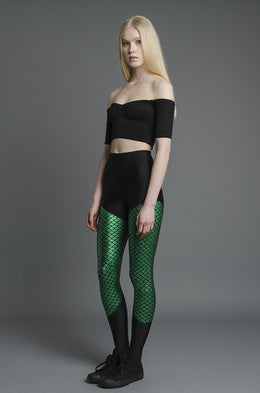 Green Mermaid Leggings View 2
