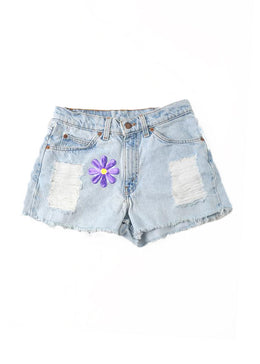 Flower Power Denim Shorts