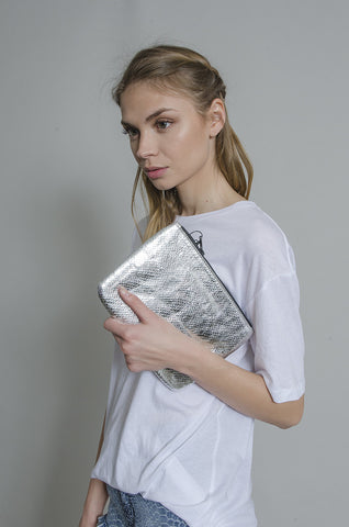 Cisco Silver Clutch