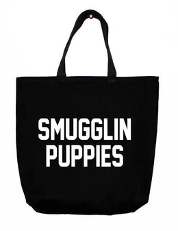 Smugglin Puppies Tote Bag