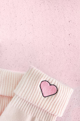 Heart Socks in Pink View 2