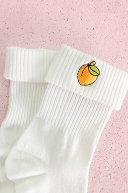 Socks in Peach View 2