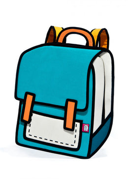 Spaceman Backpack in Turquoise Blue
