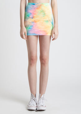 Tie Dye Mini Skirt