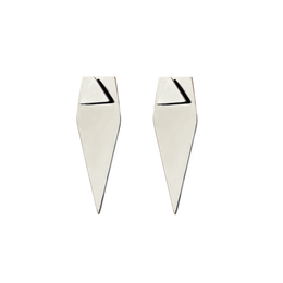 Forget Triangle Earrings in Silver