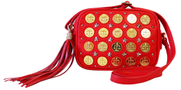 Coin Shoulder Bag in Red View 2