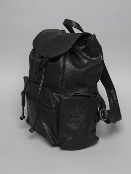Black Textured Backpack View 2