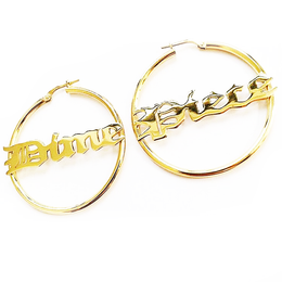 Dime Piece Hoop Earrings