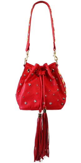 Red Coin Bucket Bag View 2