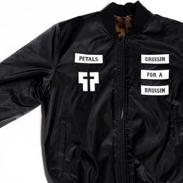 Don't F With Petals Reversible Bomber Jacket View 2