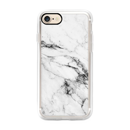 iPhone 7 Black and White Marble Case