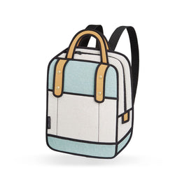 Woolen Backpack In Turquoise