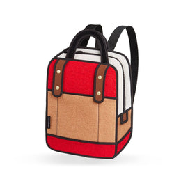 Woolen Backpack in Red