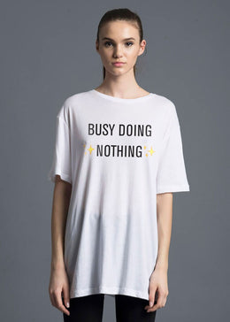Busy Doing Nothing Boyfriend Tee