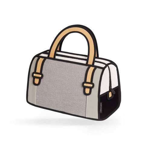 Woolen Handbag in Grey