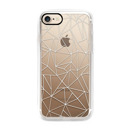 iPhone 7 Abstraction Outline White Transparent Case