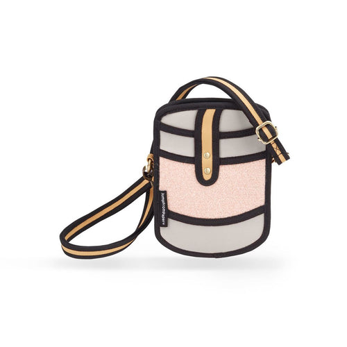 Mini Woolen Cross-Body Bag in Pink