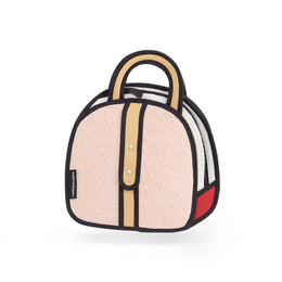 Woolen Small Handbag in Pink