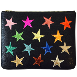 Ziggy Stardust Clutch in Black