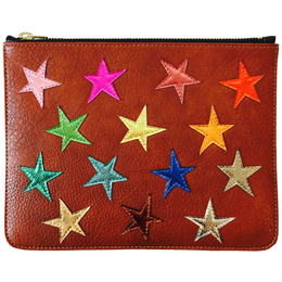 Ziggy Stardust Clutch in Tan