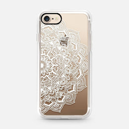 iPhone 7 White Lace Mandala Case