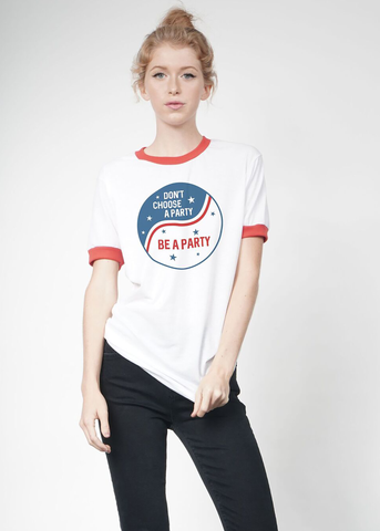 Be a Party Ringer Tee