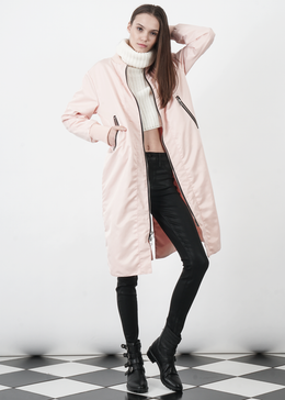 Heroine Long Bomber in Pink