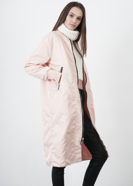 Heroine Long Bomber in Pink View 2