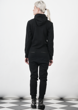 Distance Jumpsuit in Black View 2