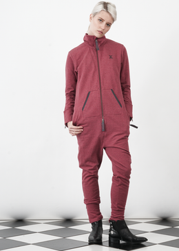 Out Jumpsuit in Red Melange View 2