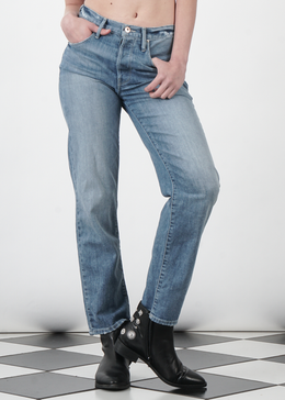 Joey Button Down Fly Jeans in Straight Iconic View 2