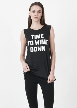 Time to Wine Down Muscle Tee