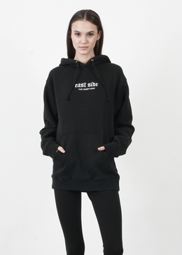The Hamptons Embroidered Hoodie in Black
