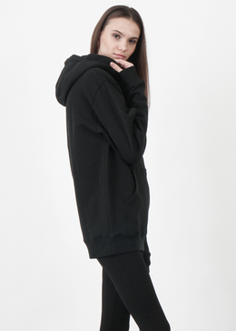 The Hamptons Embroidered Hoodie in Black View 2