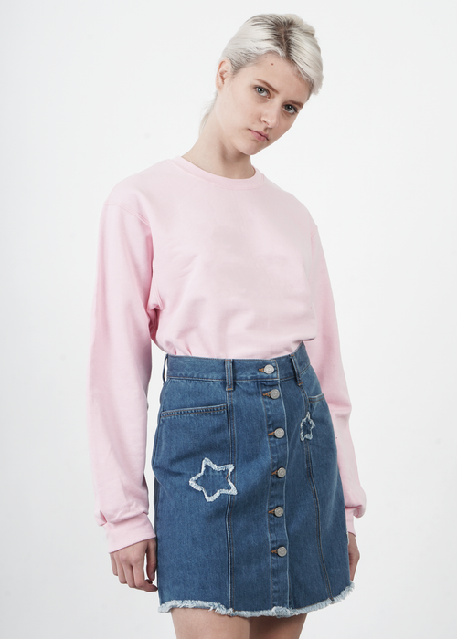 Star Patch A Line Skirt