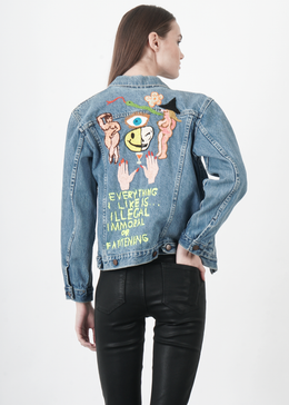 Embroidered Vintage Denim Jacket