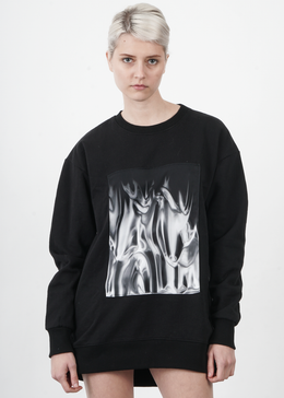 Mortals Sweatshirt in Liquid Silver Patch