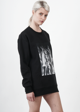 Mortals Sweatshirt in Liquid Silver Patch View 2