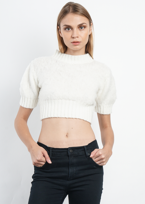 Kelsey Crop in White