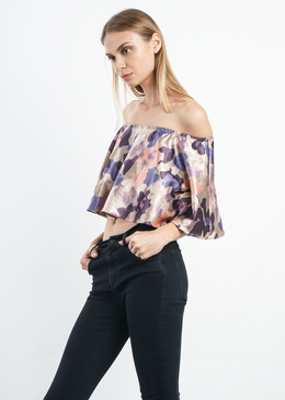 Camo Off-Shoulder Top View 2