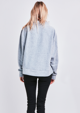 Friday I'm In Love Pullover (Rain Cloud Grey) View 2